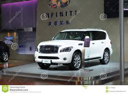 infiniti qx56 limo white infiniti qx56 suv editorial photo image 17776656