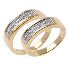 1 00ct tcw 18k yellow gold his u0026 her ring set 9006410 shop at