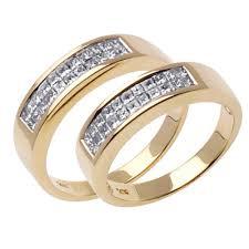 wedding ring depot 1 00ct tcw 18k yellow gold his ring set 9006410 shop at