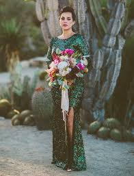 green wedding dress mid century glam desert wedding nic iain century hotel hotel