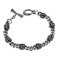 rose silver bracelet images King baby sterling silver rose station chain bracelet 8524022 hsn jpg