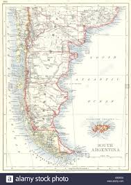 Patagonia Map South Argentina Chile Chile Falkland Islands Patagonia 1897