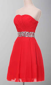sparkle red strapless crystal belt short prom dress ksp365 ksp365
