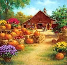 autumn pumpkin wallpaper widescreen misc ray mertes pumpkin barn detail autumn fruit painting house
