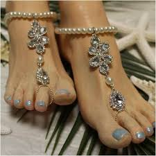 barefoot sandals wedding bridal barefoot sandals foot jewelry silver bridal diamond
