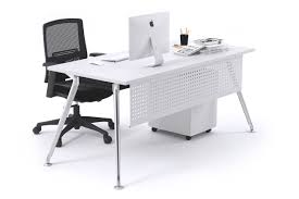 Chrome Office Desk Executive Office Desk Chrome Leg San Fran Office Furniture