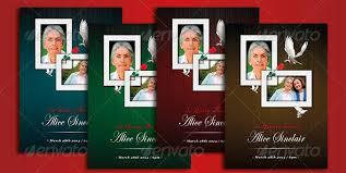 modern funeral programs 15 great funeral brochure templates desiznworld