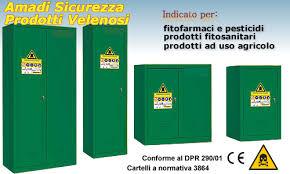 armadietti di sicurezza armadio conservazione fitofarmaci