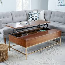 elm home decor storage coffee table walnut antique brass west elm australia