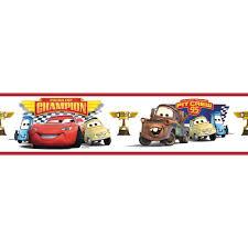 pixar cars piston cup champion peel stick border wall decal disney pixar cars piston cup champion peel stick border wall decal