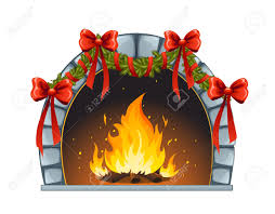 christmas fireplace royalty free cliparts vectors and stock