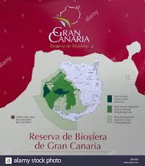 unesco si e map showing unesco biosphere reserve area of gran canaria in the