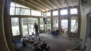 installing glass in the new florida room youtube