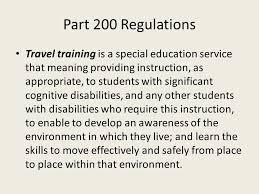 Rcsd travel training program part 200 regulations travel training