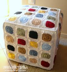 ravelry granny square ottoman cover pattern by anna virginia