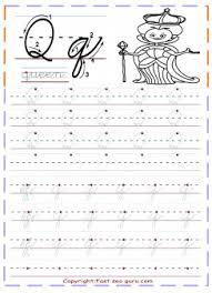 cursive handwriting tracing worksheets letter q for queen