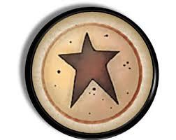 Barn Star Kitchen Decor by Star Knobs Etsy
