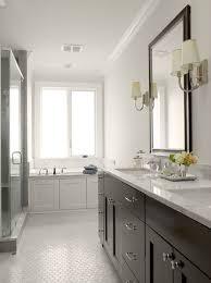 Double Bathroom Vanity by Graciela Rutkowski Interiors Bathrooms Gray Walls Espresso