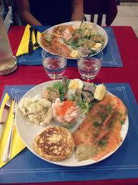 cuisine repas mon repas au restaurant norvégien fjord
