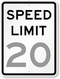 Speed Limit In Blind Intersection Official Mutcd Speed Limit Signs