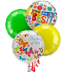 balloon delivery san jose balloon bouquet 4 mylar balloons a mixed balloon bouquet