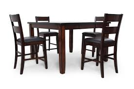 crown mark maldives five piece pub table set mathis brothers