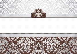 Invitation Cards Software Free Download Invitation Card Template With Ornamental Borders Vector Image