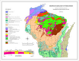 A Map Of Wisconsin by Geog 342 Spring 2015 1 W5c Wisconsin Bedrock Geology Map