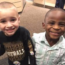 little boy wants the same haircut to look like his friend