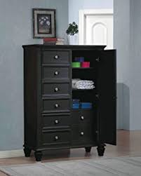 Armoire Chest Of Drawers Amazon Com South Shore Vito Door Chest With 5 Drawers Pure Black