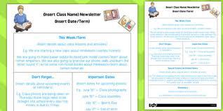 editable newsletter template ks2 editable newsletter