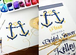 custom bridal shower invitations custom nautical bridal shower invitations mospens studio