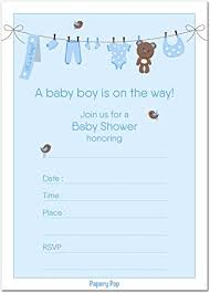 baby boy shower invitations 30 baby shower invitations boy with envelopes baby