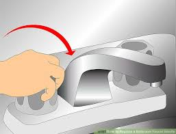 How To Remove A Bathroom Faucet by How To Replace A Bathroom Faucet Handle With Pictures Wikihow