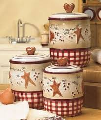 primitive kitchen canister sets primitive country abound stoneware canister set http