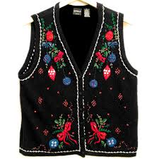 beaded ornaments tacky sweater vest s plus