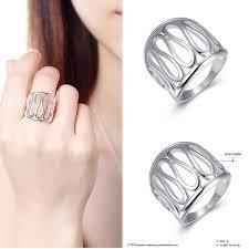 Esszimmerst Le Gemischt 1stk Damen Silber Ring Band Ringe Breit öffnen Fingerringe