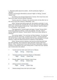 28 free esl reading practice worksheets