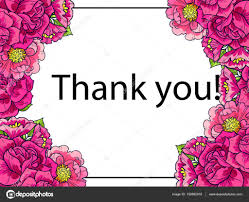 floral thank you card stock vector all about flowers 150862618
