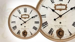 Horloge Murale Ronde Blanche Avec Horloge Murale De Style Ancien Avec Balancier