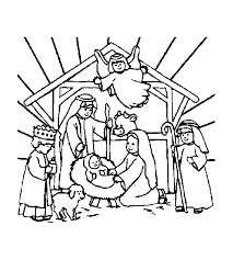 religious christmas coloring pages getcoloringpages
