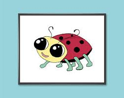 Prints For Kids Rooms by Ladybug Wall Art Etsy
