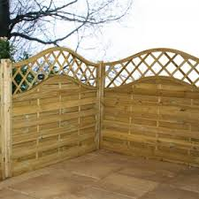 Arch Trellis Fence Panels Horizontal Weave Fencing Great Deals At Sheds Co Uk