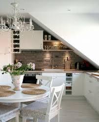 kitchen mansard roof sloping decode ideas küche31 home
