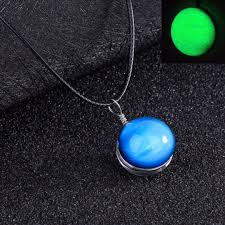 glass ball necklace images Retro galaxy glass ball pendant necklace glow in the dark star jpg