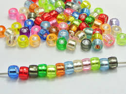 craft bracelet beads images 500 mixed color silver foil acrylic barrel pony beads 6x4mm for jpg