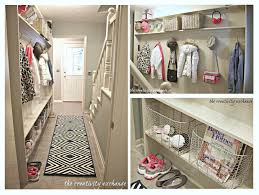 Mudroom Layout by Narrow Hallway Built In Diy Mudroom