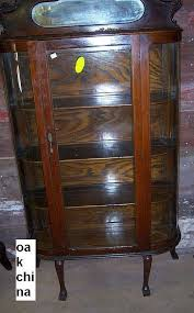 antique curio cabinet with curved glass oak curved glass china cabinet antique value of cabinets for sale