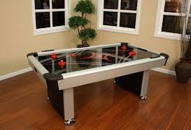 air hockey table for the game room with table tennis to go on top