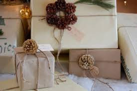 chic country wrapping brown paper packages up with